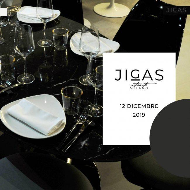 Invito al cocktail party d'inaugurazione del Ristorante JIGAS Milano, Corso di Porta Vigentina 33