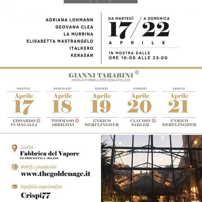 THE GOLDEN AGE – Adriana Lohmann e la Belle Époque @ Milano Design Week 2018